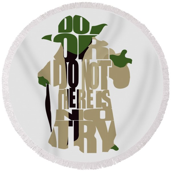 Yoda - Star Wars Round Beach Towel
