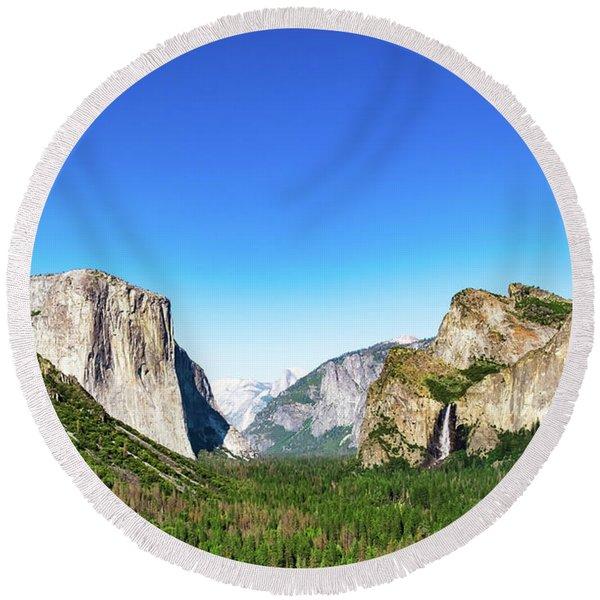 Yosemite Valley- Round Beach Towel