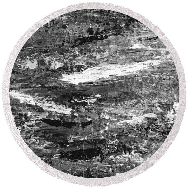 Zen Abstract A723b Round Beach Towel
