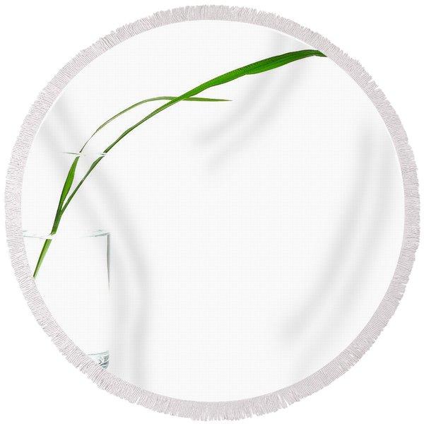 Zen Grass Round Beach Towel