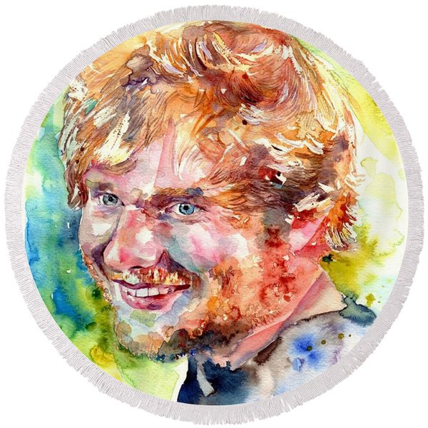 Ed Sheeran Round Beach Towel