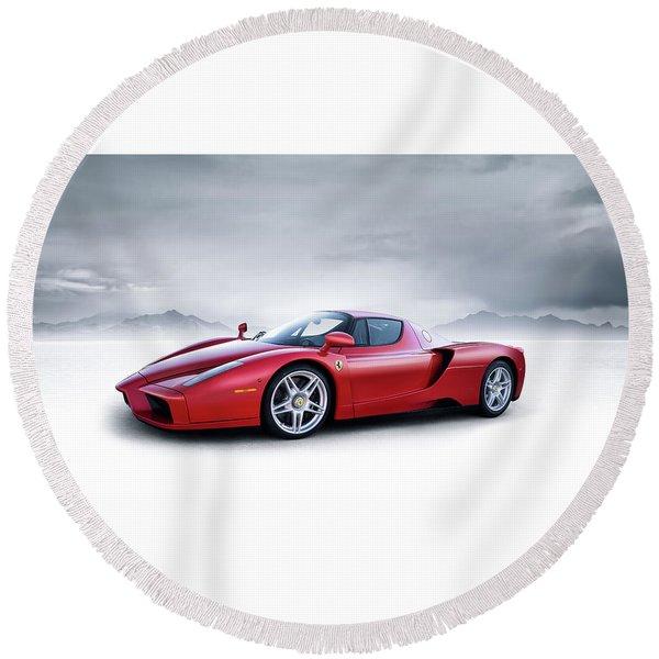 Ferrari Enzo Round Beach Towel