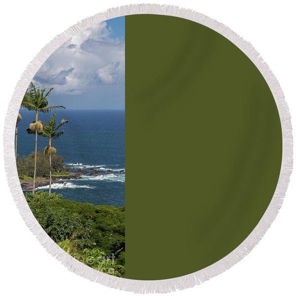 Hawaii Big Island Round Beach Towel