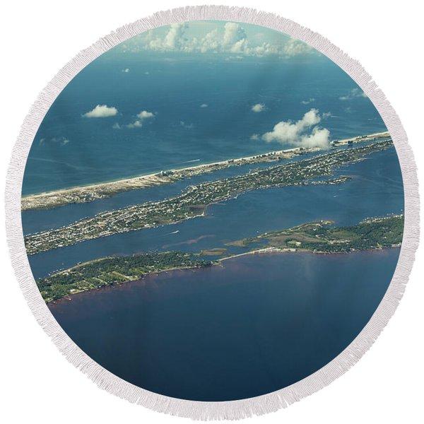 Ono Island-5326 Round Beach Towel