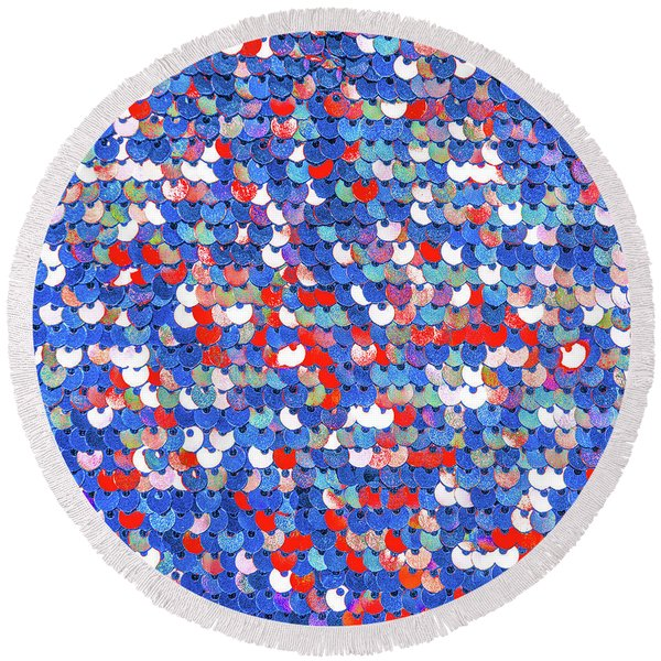 Funky Sequins Round Beach Towel