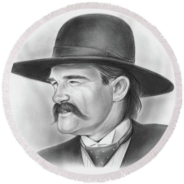 Wyatt Earp Round Beach Towel