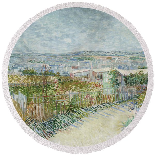 Montmartre - Behind The Moulin De La Galette Round Beach Towel