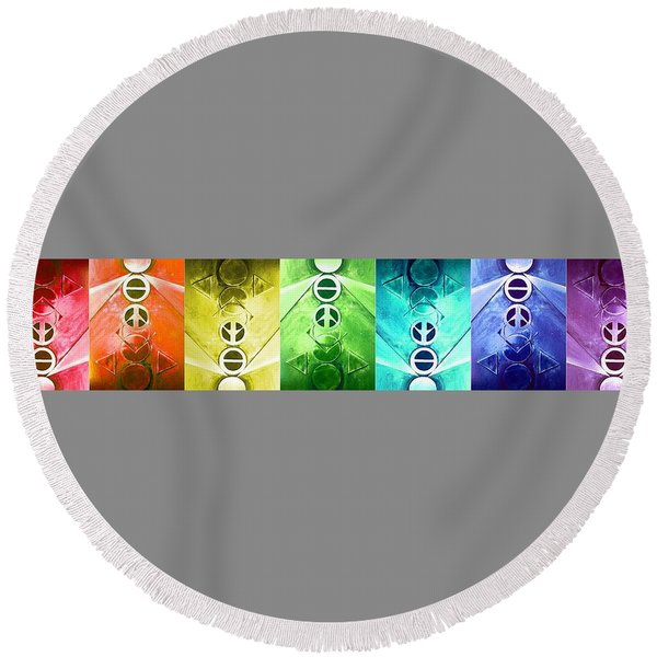 A New World, Chaos Round Beach Towel