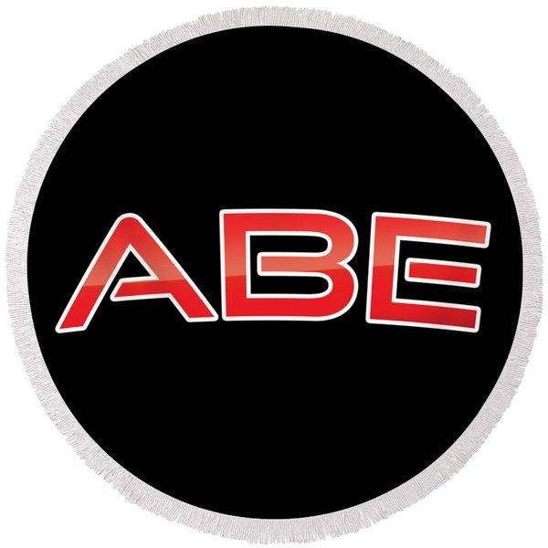 Abe Round Beach Towel