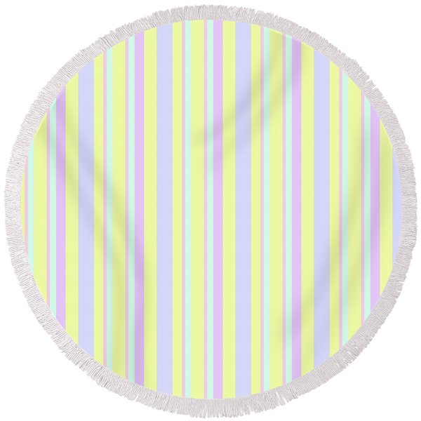 Abstract Fresh Color Lines Background - Dde595 Round Beach Towel