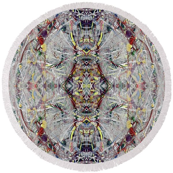 Abstract Symmetry 1 Round Beach Towel