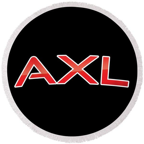 Axl Round Beach Towel