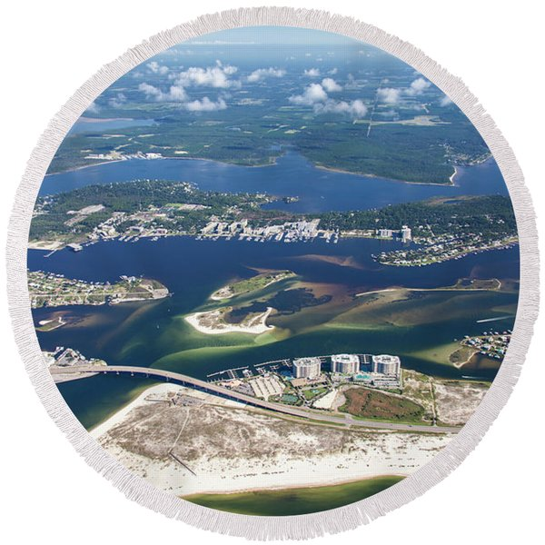 Backwaters 5122-a Round Beach Towel