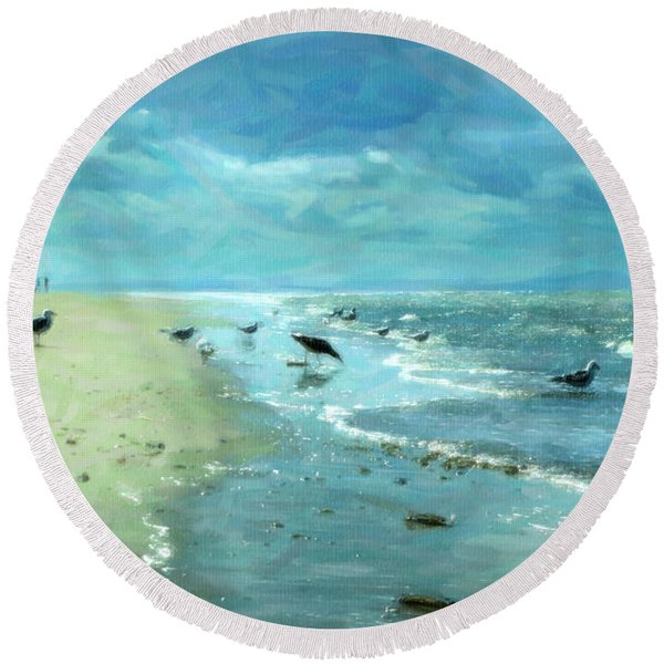 Beach Blues IIi Round Beach Towel
