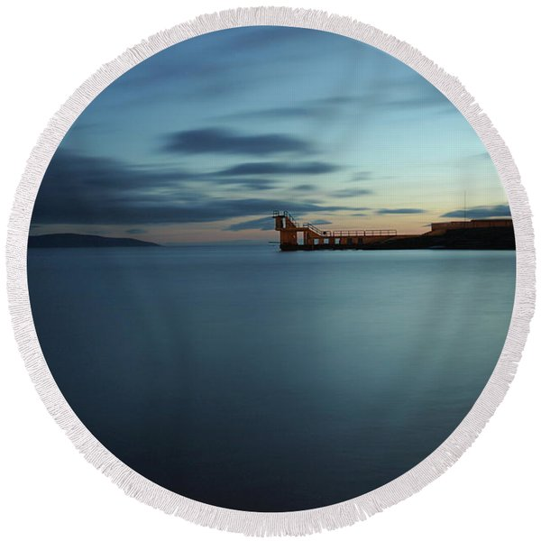 Blue Hour Salthill Round Beach Towel