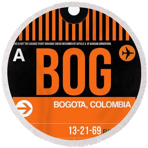 Bog Bogota Luggage Tag II Round Beach Towel