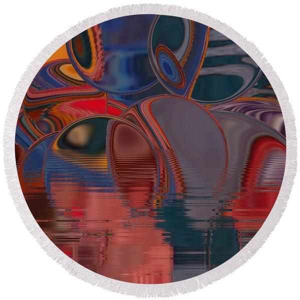 Round Beach Towel featuring the digital art Cave De Sensation by A zakaria Mami