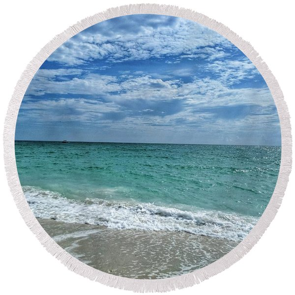 Cool Off Round Beach Towel