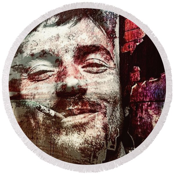 Damien Rice Round Beach Towel
