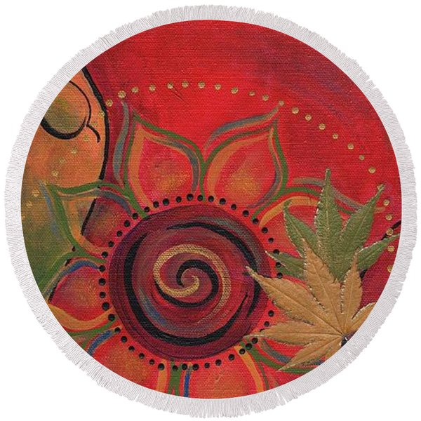 Dancer II Round Beach Towel