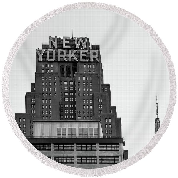 Defining New York Round Beach Towel