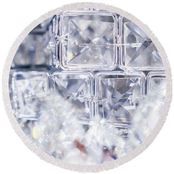 Diamond Shine IIi Round Beach Towel