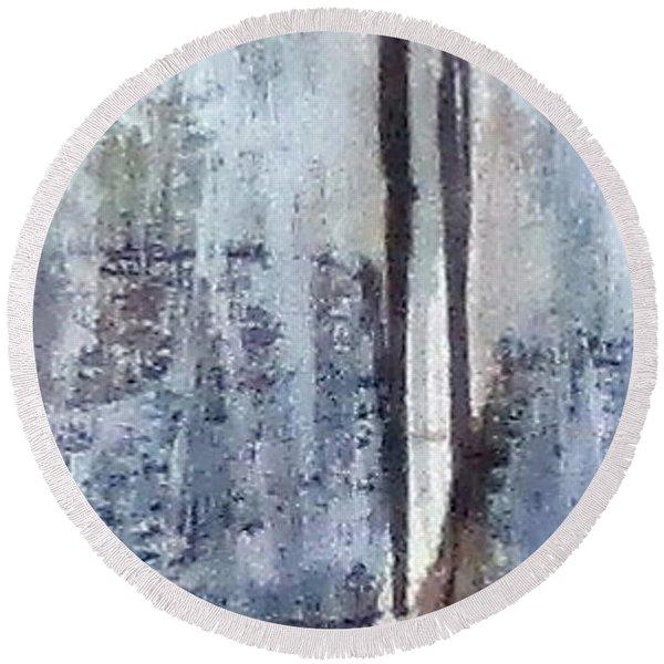 Digital Abstract N13. Round Beach Towel