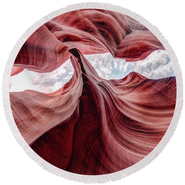 Divided View Round Beach Towel
