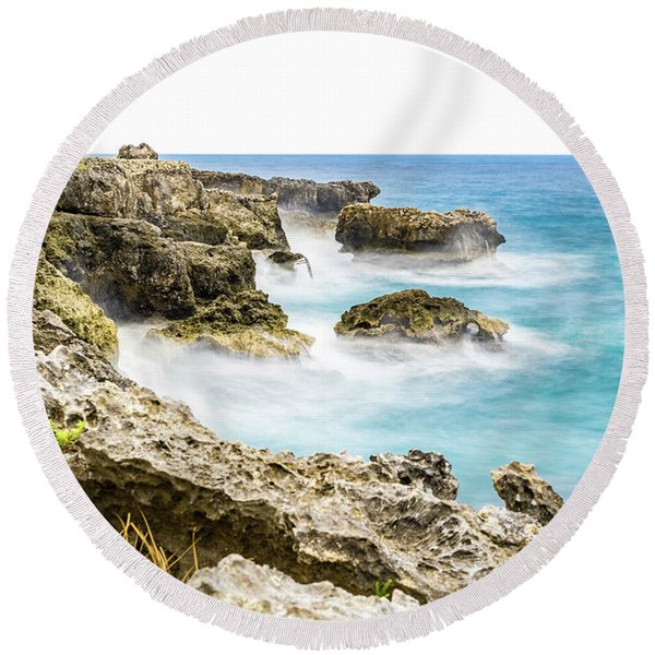 Dreaming Of Negril Round Beach Towel