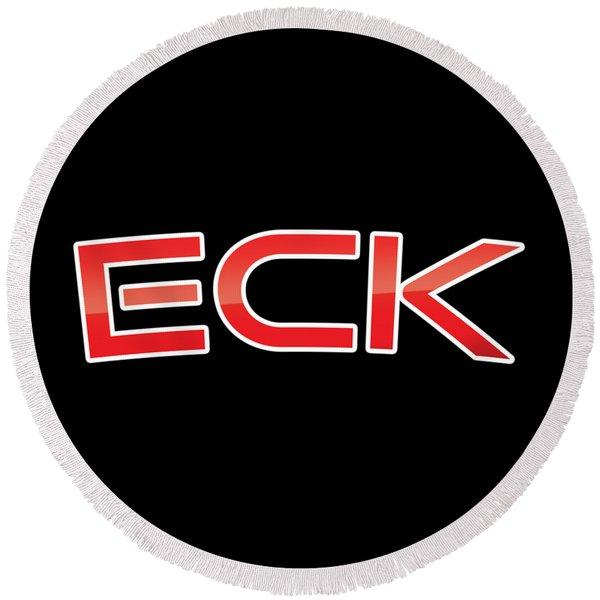 Eck Round Beach Towel