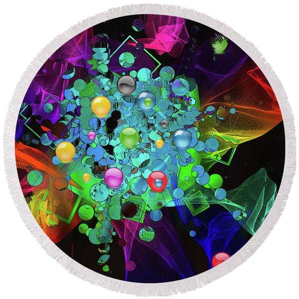 Round Beach Towel featuring the digital art Ecstasy by Gerlinde Keating - Galleria GK Keating Associates Inc