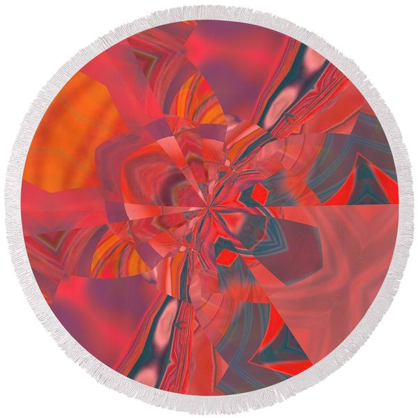 Round Beach Towel featuring the digital art Emotion by A zakaria Mami