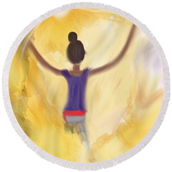 Eternal Presence Round Beach Towel