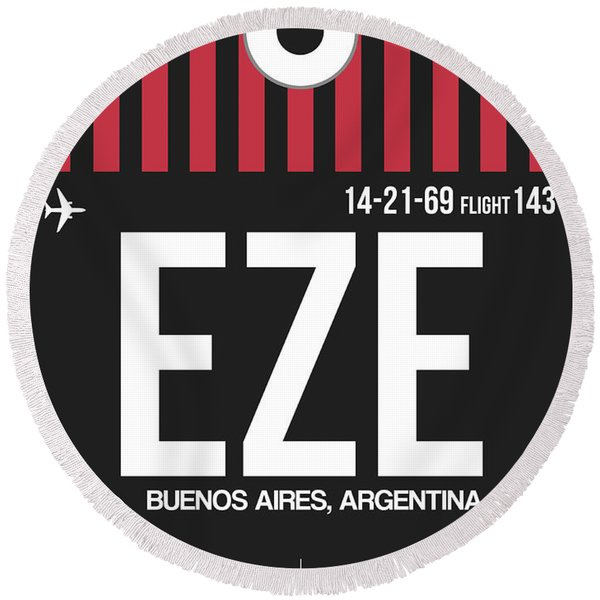Eze Buenos Aires Luggage Tag II Round Beach Towel