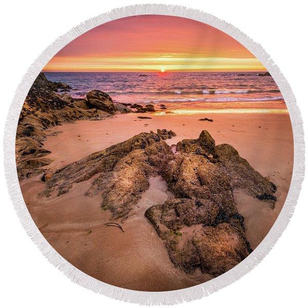 Fading Light Round Beach Towel