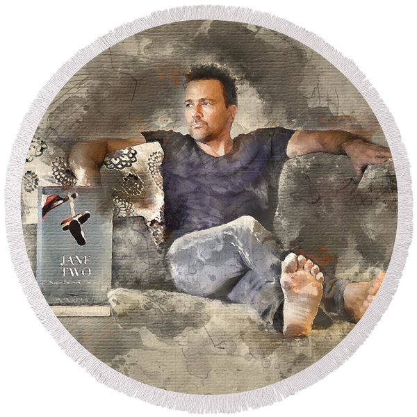 Flanery With Jane Two Round Beach Towel