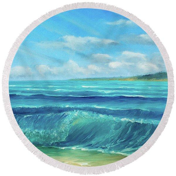 Gentle Breeze Round Beach Towel