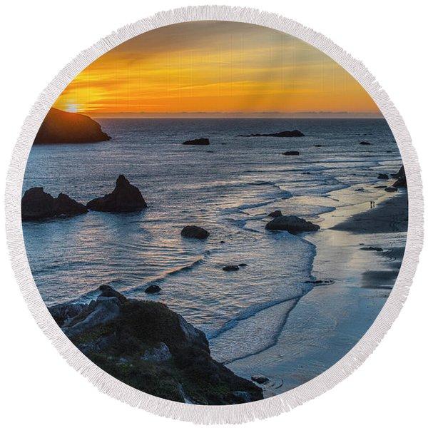Gold Coast Sunset Round Beach Towel