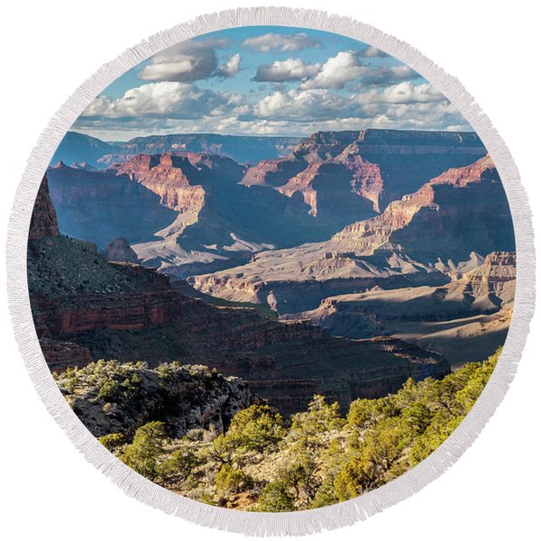 Grand Canyon Afternoon  Round Beach Towel