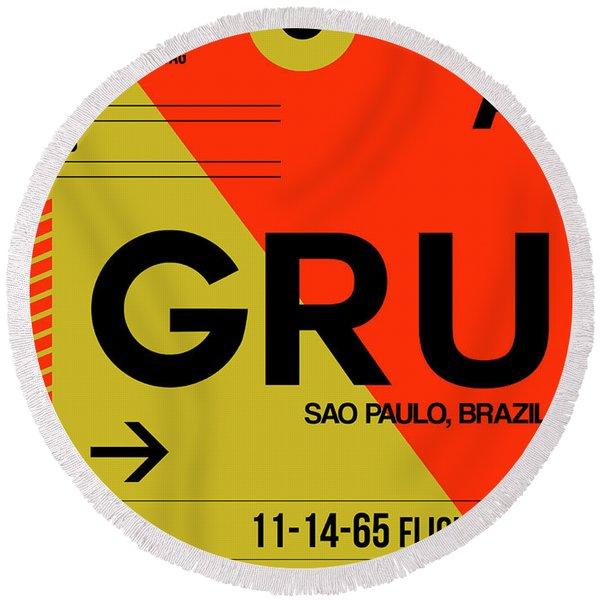 Gru Sao Paulo Luggage Tag II Round Beach Towel