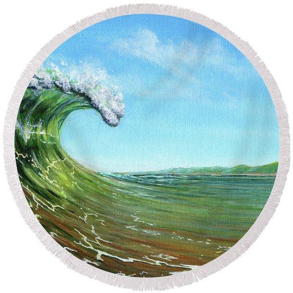 Gulf Of Mexico Surf Round Beach Towel