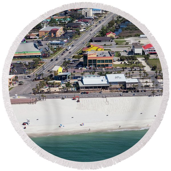 Gulf Shores Beach 7139 Round Beach Towel