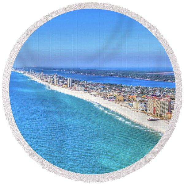 Gulf Shores Beaches 1335 Tonemapped Round Beach Towel
