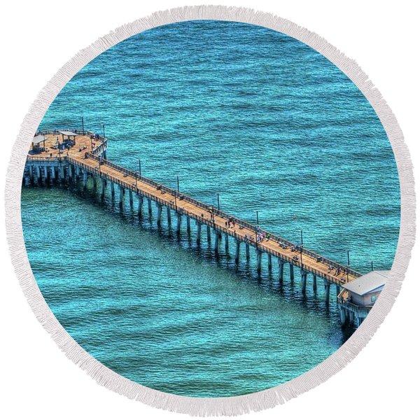 Gulf State Park Pier Round Beach Towel