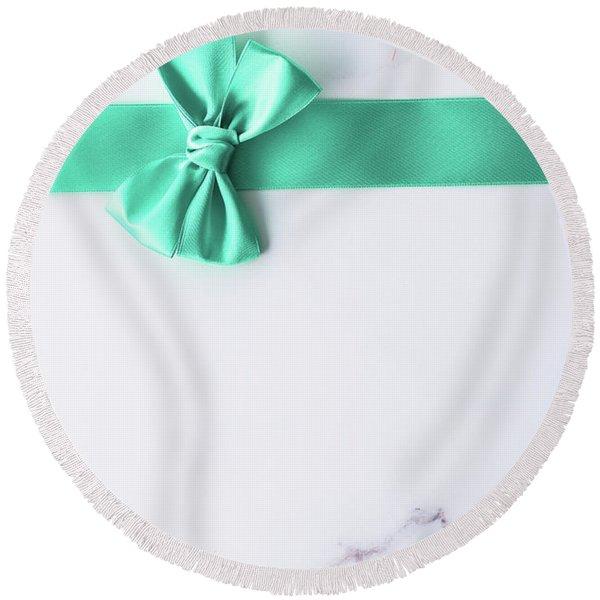 Happy Holidays Iv Round Beach Towel