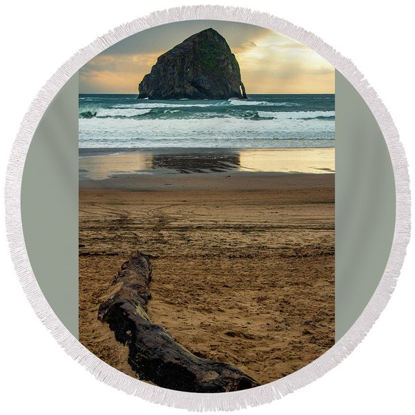 Haystack Reflection Round Beach Towel