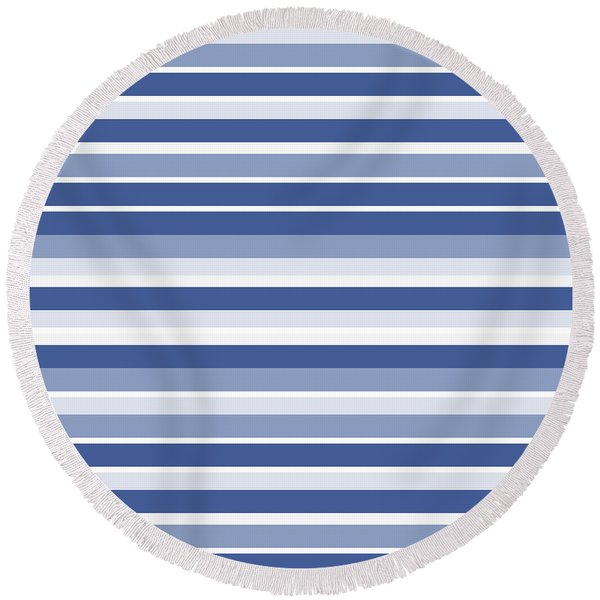 Horizontal Lines Background - Dde607 Round Beach Towel