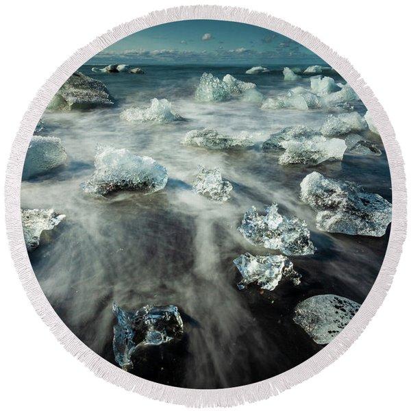 Iceberg Beach Round Beach Towel