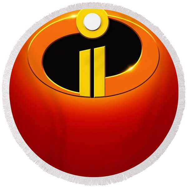 Incredibles 2 Round Beach Towel