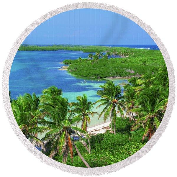 Isla Contoy Round Beach Towel
